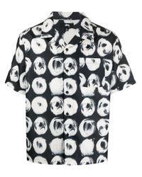 Stussy Black Short-sleeve Print Shirt for men