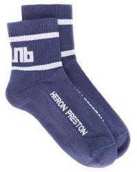 Chaussettes à logo Heron Preston pour homme en coloris Blue