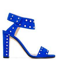 Jimmy Choo Blue Veto 100 Sandals
