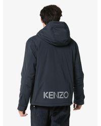 Coupe-vent à logo imprimé KENZO pour homme en coloris Blue