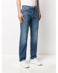 PS by Paul Smith Gerade Jeans mit hohem Bund in Blue für Herren