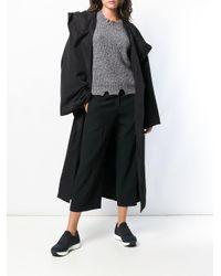 Yohji Yamamoto - Black Off-centre Button Coat - Lyst