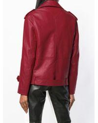Байкерская Куртка Оверсайз Karl Lagerfeld, цвет: Red