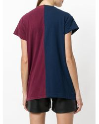 Night Market Blue Split Mix T-shirt