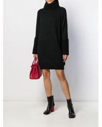 Robe en maille à col roulé MM6 by Maison Martin Margiela en coloris Black