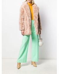 Abrigo de borrego con botones Apparis de color Pink