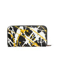 Burberry - Black Splash Print Zip Around Wallet - Lyst