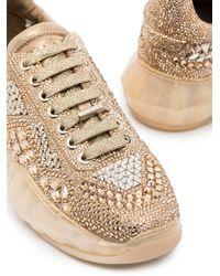 Zapatillas Diamond F Jimmy Choo de color Metallic