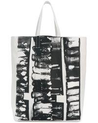 CALVIN KLEIN 205W39NYC White Cowboy Boots Tote Bag