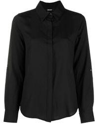 Camicia con orlo curvo di DKNY in Black