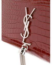 Saint Laurent Red Monogram Shoulder Bag