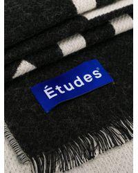 Etudes Studio ロゴ スカーフ Black