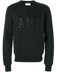 AMI Black Logo Sweatshirt for men