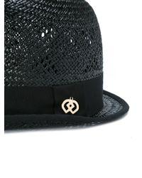 DSquared² Black Panama Hat