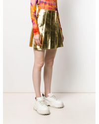 MSGM Aライン プリーツスカート Metallic