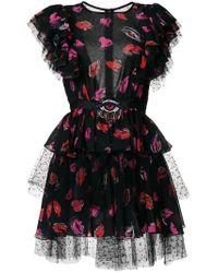 MSGM Black Layered Tulle Mini Dress