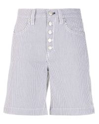Tommy Hilfiger White Striped Print Shorts