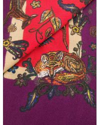Etro アニマルプリント スカーフ Multicolor