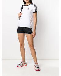 Adidas ストライプ トラックショーツ Black