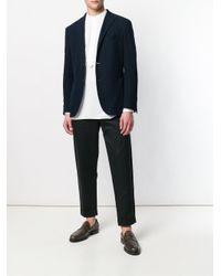 Lardini White Mandarin Collar Shirt for men