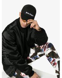 Gorra de béisbol con logo Palm Angels de hombre de color Black