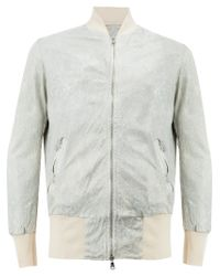 Giorgio Brato Gray Panelled Bomber Jacket for men