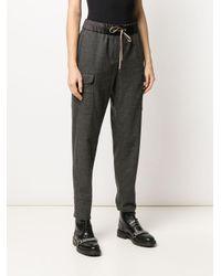 Pantalon fuselé à poches à rabat Peserico en coloris Gray