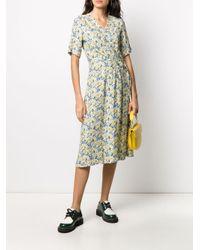 A.P.C. フローラル ラップドレス Yellow