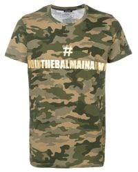 Balmain - Green Camouflage Print Logo T-shirt for Men - Lyst