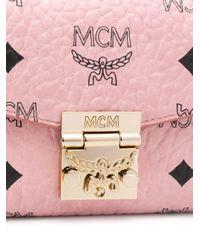 Portafoglio Patricia con catena di MCM in Pink
