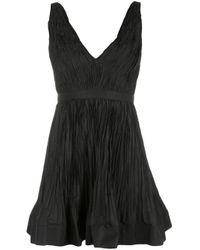 Vestido Marilou acampanado con diseño arrugado Alexis de color Black