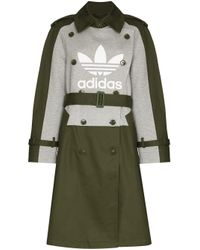 Adidas Green X Dry Clean Only Trench Coat