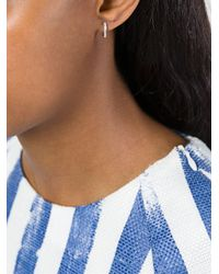Wouters & Hendrix - Metallic Diamond Hoop Earrings - Lyst