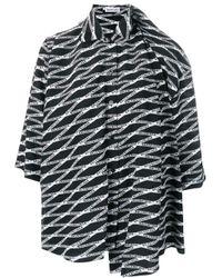 Balenciaga Black Monogram Double Shirt