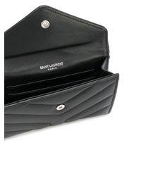 Saint Laurent Black Quilted Logo Purse