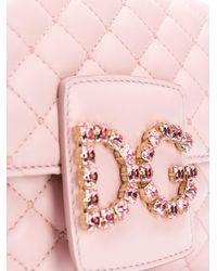 Dolce & Gabbana キルティング ショルダーバッグ Pink
