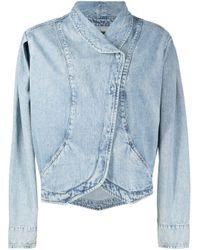 Veste en jean à effet délavé Isabel Marant en coloris Blue