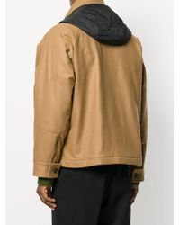 Marni - Brown Contrast Hooded Military Jacket for Men - Lyst