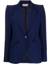 Alexander McQueen パワーショルダー ジャケット Blue
