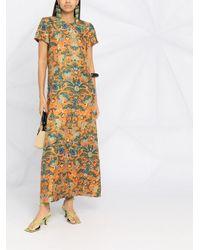 LaDoubleJ フローラル スウィングドレス Multicolor