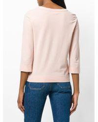 Zanone Pink Boat Neck Sweater