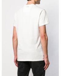 T-shirt à imprimé tête de mort John Varvatos pour homme en coloris White
