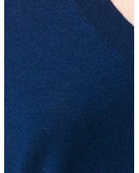 Tory Burch Blue V-neck Jumper