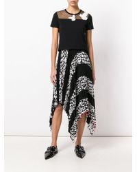 RED Valentino - Black Dove Embroidered T-shirt - Lyst