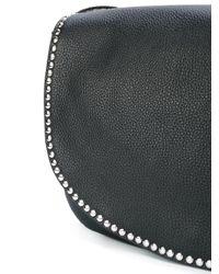 RED Valentino Black Studded Trim Shoulder Bag