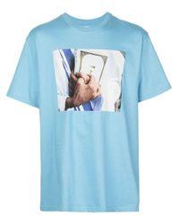 Supreme T-Shirt mit Bibel-Print in Blue für Herren
