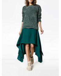 Sies Marjan Blue Courtney Tinsel-knit Sweater