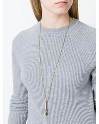 Marc Jacobs Metallic Safety Pin & Snail Charm Necklace