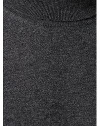 Джемпер С Высоким Воротником Brunello Cucinelli для него, цвет: Gray