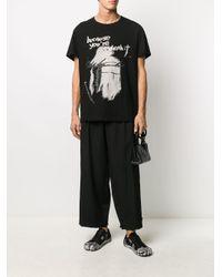 メンズ Yohji Yamamoto ハイウエスト パンツ Black